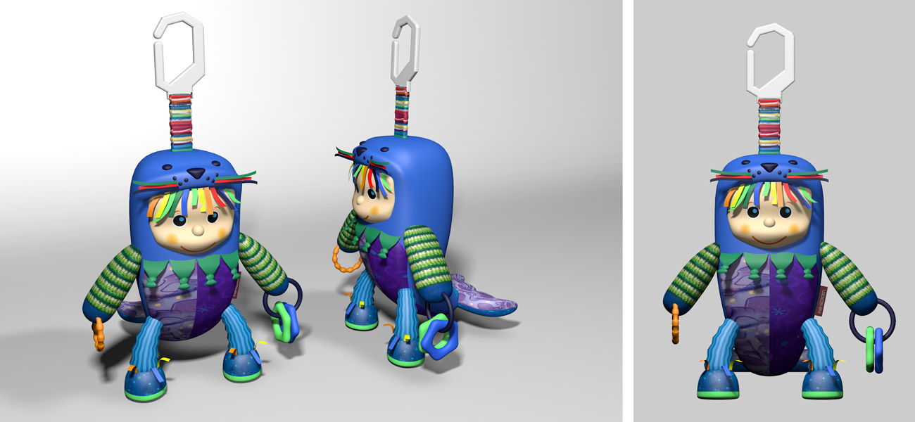 Ilustración juguetes, diseños antes de la fabricación.
