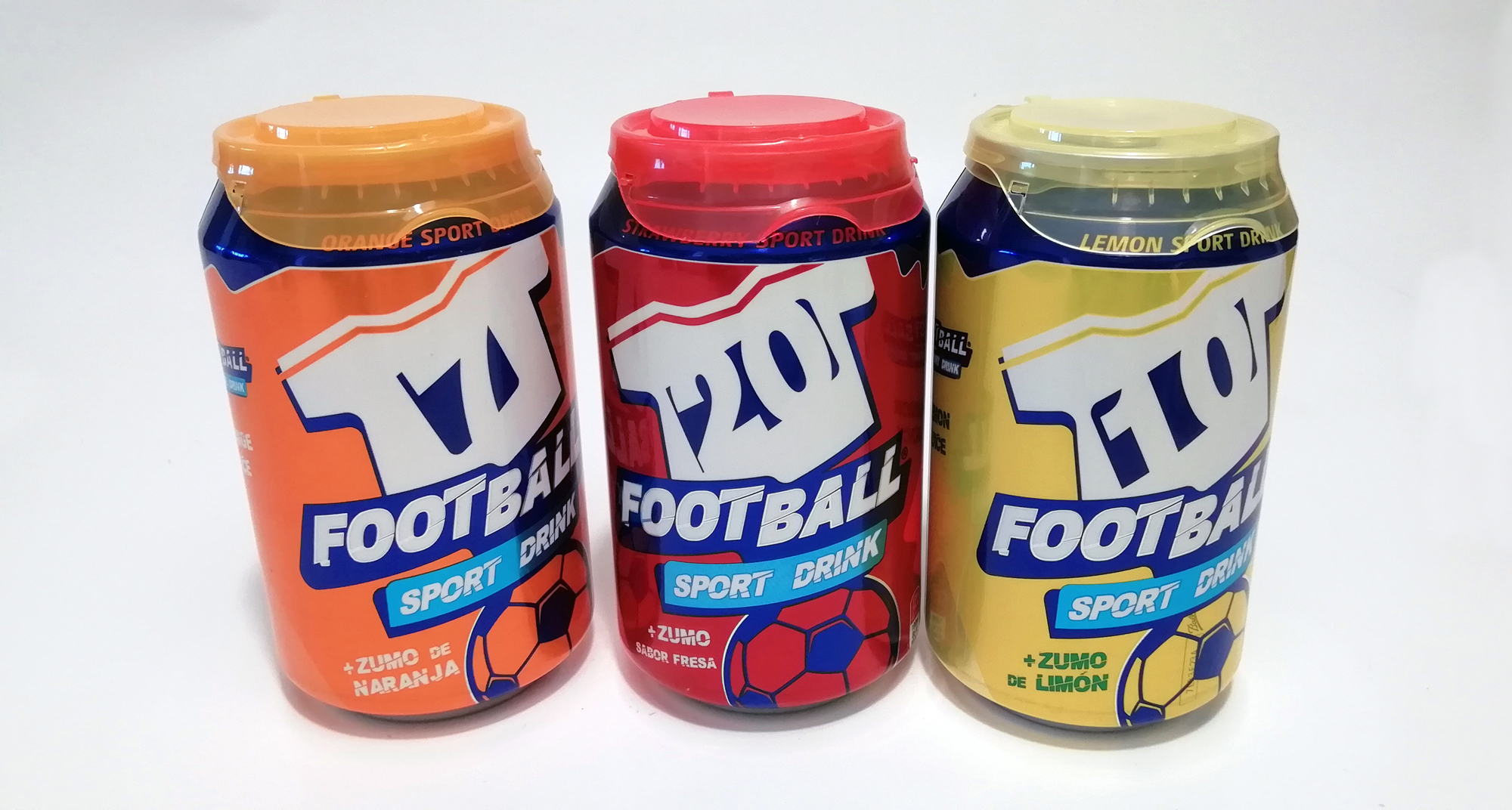 Packaging de bebida isotónica FootBall Drink.